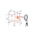business key solution leadership concept sketch vector image vector image