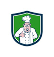 Chef Cook Thumbs Up Crest Cartoon vector image vector image