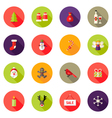 Christmas Circle Flat Icons Set 4 vector image vector image