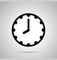 clock face showing 8-00 simple black icon on vector image vector image