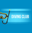 creative of scuba diving vector image