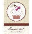 Cupcake invitation vector image vector image