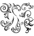decorative leave vector image