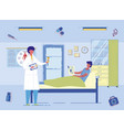doctor informs patient about medical tests results vector image vector image