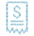 dollar cheque icon figure vector image vector image