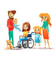 family and handicapped child vector image