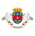 flag of saint-barthelemy france vector image vector image
