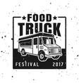 food truck festival emblem badge label vector image vector image