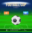 football event flyer template place your text vector image