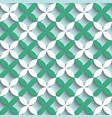 geometric seamless pattern design white and green vector image