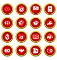 global connections icon red circle set vector image vector image