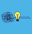 goal solution idea concept creative brainstorm vector image