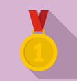 gold medal icon flat style vector image