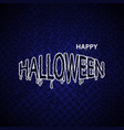 halloween banner calligraphy halloween vector image