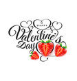 happy valentine s day font composition with vector image vector image