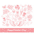 happy valentines day sketch vector image vector image