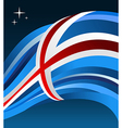 Iceland flag background vector image vector image