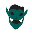 isolated vampire mask vector image