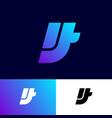 it logo monogram web ui company vector image vector image