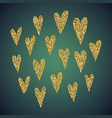 jewelry gold glitter of love heart symbol vector image vector image