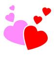 love hearts concept vector image