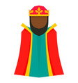 magic epiphany king icon flat style vector image