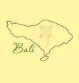 map of bali thin line vector image