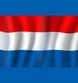 netherlands national tricolor flag holland vector image
