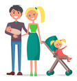 parents day poster depicting young family vector image vector image