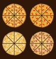 Pizza on the board and the ingredients for the vector image vector image