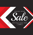 red black awesome sale banner template design for vector image vector image