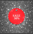 sale-snow-red vector image vector image