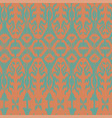 seamless ikat pattern green and red vector image