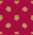 seamless pattern with red flowers can use for vector image vector image