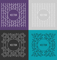Set of Line Art Floral Decoration Frames Design vector image vector image