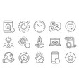 set technology icons such as online delivery vector image vector image