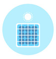 solar panel icon alternative energy resource vector image