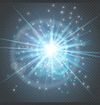 sparks glitter glowing - star burst glow with lens vector image
