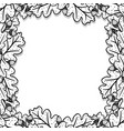 square decorative frame with oak leaves and acorns vector image vector image