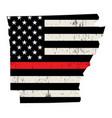 state arkansas firefighter support flag vector image vector image