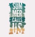 summer time phrase typographical grunge poster vector image vector image