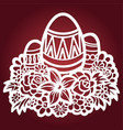 template for laser cutting easter eggs vector image vector image