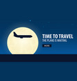 time to travel plane is waiting vector image