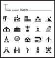 Travel Element Line Icon Set 10Landmark thin icons vector image