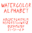 Watercolor font set vector | Price: 1 Credit (USD $1)