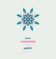 winter events colorful ornate shape ice snowflake vector image vector image
