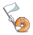 with flag bagels mascot cartoon style vector image vector image