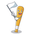 with flag baseball bat character cartoon vector image