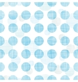 Abstract textile blue polka dots stripes seamless vector image