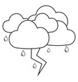 abstract weather icon vector image vector image